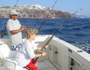 santorini fishing trips